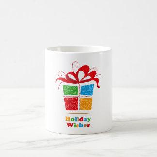 Colorful Gift Holiday Wishes Mug