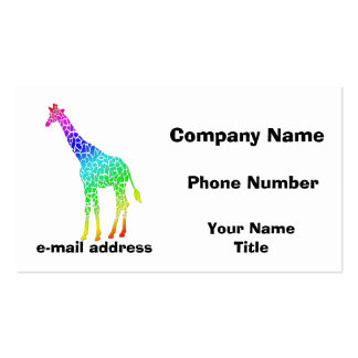 Colorful Giraffe Pack Of Standard Business Cards