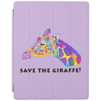 Colorful Giraffe iPad Cover
