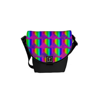 Colorful Girly Rainbow Hearts Fun Teen Pattern Courier Bags