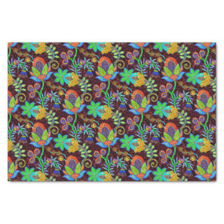 Colorful Glass Beads Look Retro Floral Design 2a Tissue Paper