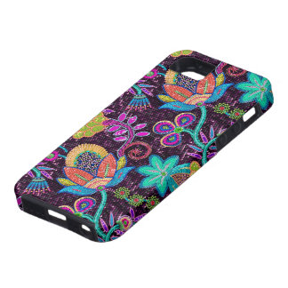 Colorful Glass Beads Look Retro Floral Design iPhone 5 Covers