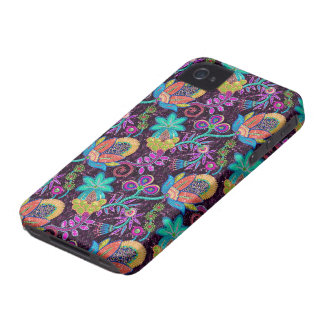 Colorful Glass Beads Look Retro Floral Design Case-Mate iPhone 4 Case