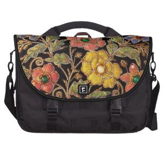 Colorful Glass Beads Vintage Floral Design Computer Bag