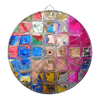 Colorful glass blocks texture dartboard