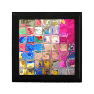 Colorful glass blocks texture gift box