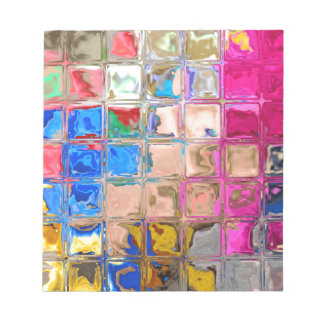 Colorful glass blocks texture notepad