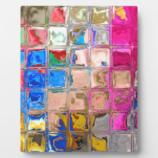 Colorful glass blocks texture plaque
