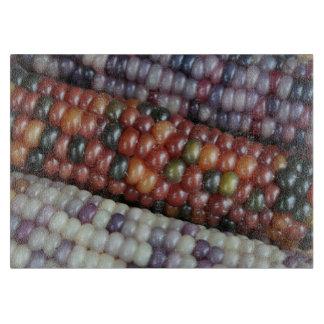 Colorful Glass Gem Corn on the Cob Cutting Board