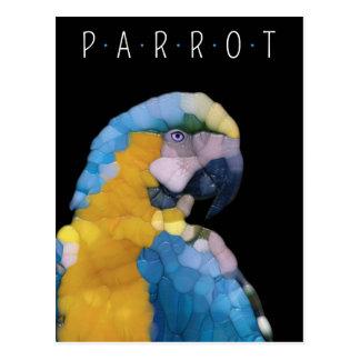 Colorful Glass Parrot Postcard