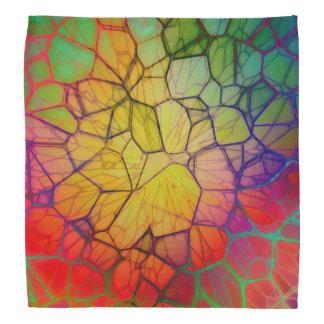 Colorful glass square bandana