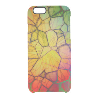 Colorful glass square clear iPhone 6/6S case