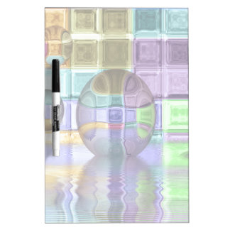 Colorful Glass Tile Worlds Dry-Erase Whiteboards