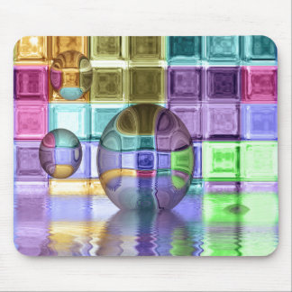 Colorful Glass Tile Worlds Mouse Pad
