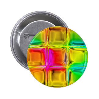 Colorful glass tiles 6 cm round badge