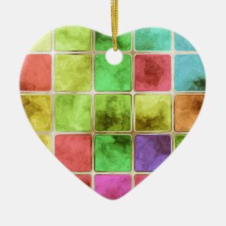 Colorful glass tiles ceramic heart decoration
