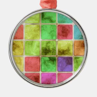 Colorful glass tiles christmas ornament