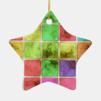 Colorful glass tiles christmas ornament