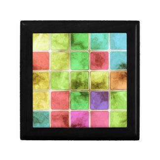 Colorful glass tiles gift box