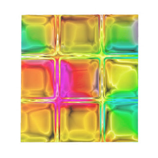 Colorful glass tiles notepad