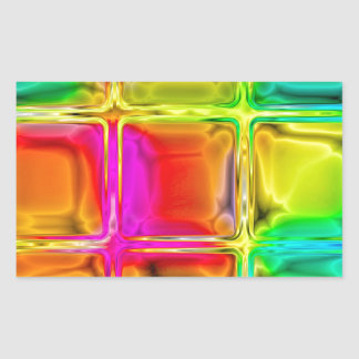 Colorful glass tiles rectangular sticker
