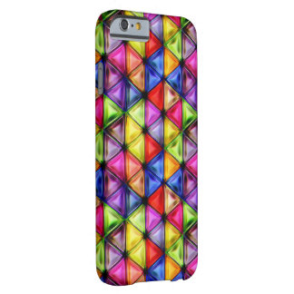 Colorful glass triangles barely there iPhone 6 case