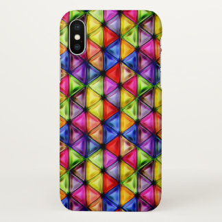 Colorful glass triangles iPhone x case