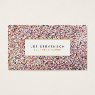 Colorful Glitter Business Card