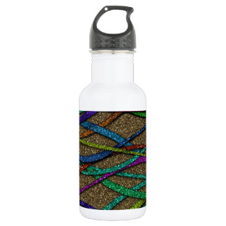 Colorful Glitter Lines 532 Ml Water Bottle