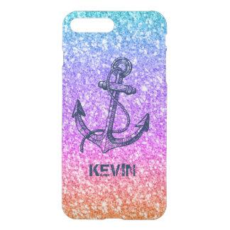 Colorful Glitter Texture Nautical Anchor iPhone 8 Plus/7 Plus Case