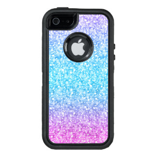 Colorful Glitter Texture Print Blue Pink & Purple OtterBox Defender iPhone Case