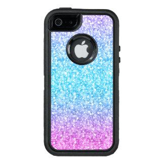 Colorful Glitter Texture Print Blue Pink & Purple OtterBox iPhone 5/5s/SE Case