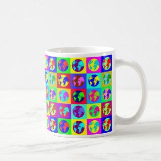 Colorful Globes Basic White Mug