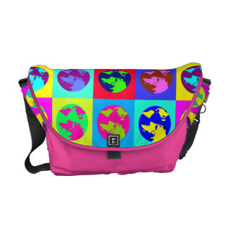 Colorful Globes Courier Bags