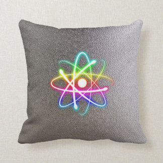 Colorful Glowing Atom | Geek Gifts Cushion