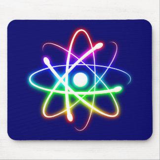 Colorful Glowing Atom - mousepad