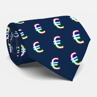 Colorful Glowing Euro Symbol | Financial Tie