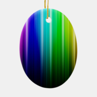 Colorful Glowing Rainbows Ceramic Oval Decoration