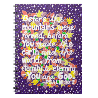 Colorful God Typography Bible Verse Notebooks