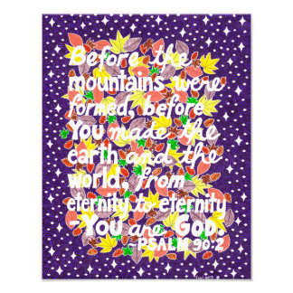 Colorful God Typography Bible Verse Photo Print