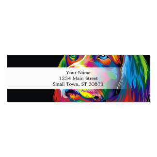 Colorful golden retriever pack of skinny business cards