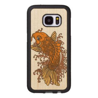 Colorful Goldfish Koi Wood Samsung Galaxy S7 Case