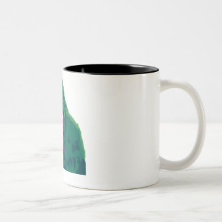 Colorful gorilla Two-Tone coffee mug