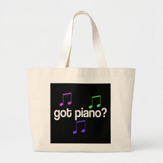 Colorful Got Piano Totebag Large Tote Bag
