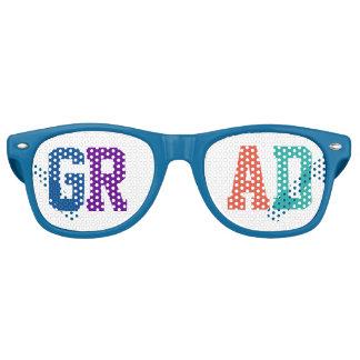 Colorful GrAd Individual Letters.Text Design Retro Sunglasses