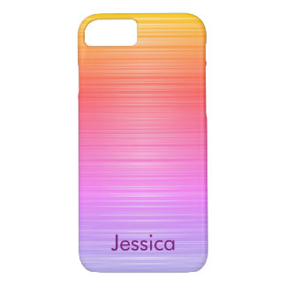 Colorful Gradient Colors Personalized Girly Name iPhone 8/7 Case