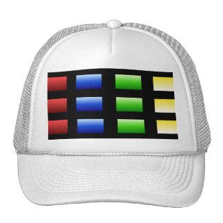 Colorful Gradient Squares Cap