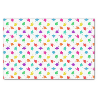 Colorful Graduation Cap Pattern Tissue Paper