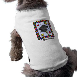 Colorful Graduation Pet Tshirt