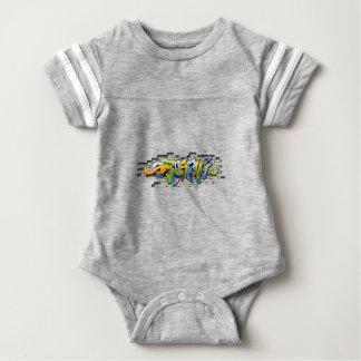 colorful graffiti art baby bodysuit